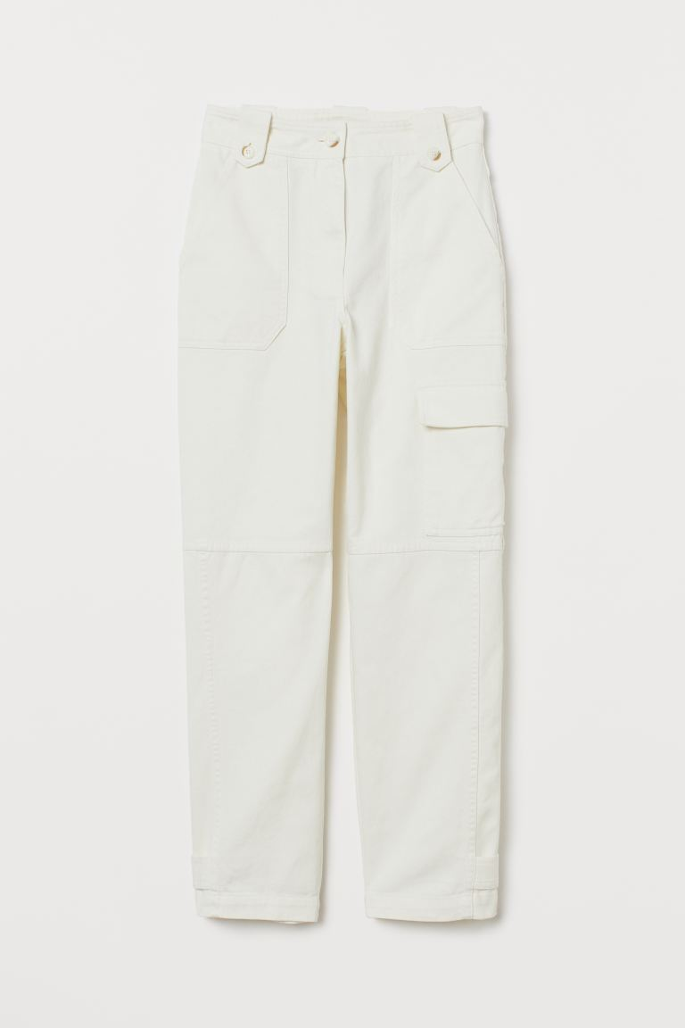 Ankle-length Cargo Pants - Cream - Ladies | H&M US