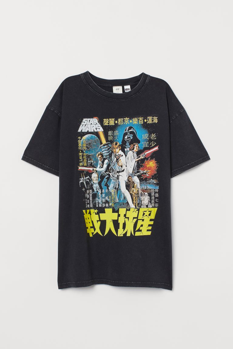Oversized printed T-shirt - Black/Star Wars - Ladies | H&M IN