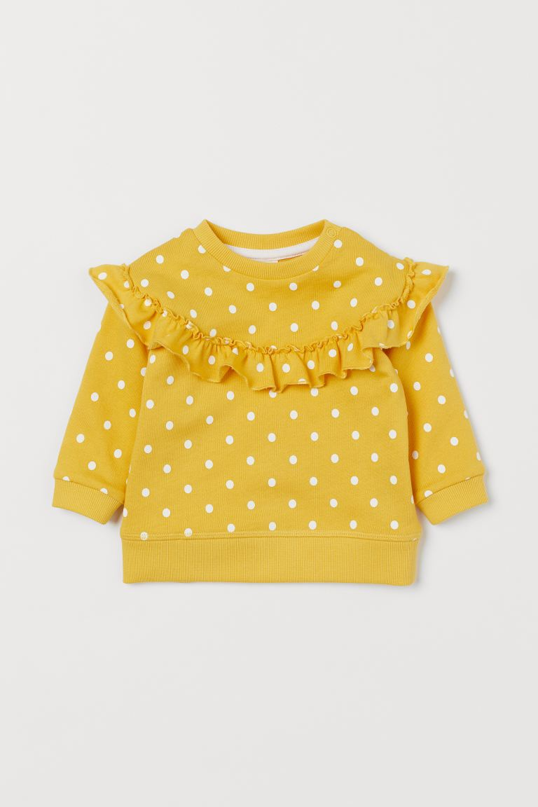Sweat - Jaune/pois - ENFANT | H&M FR