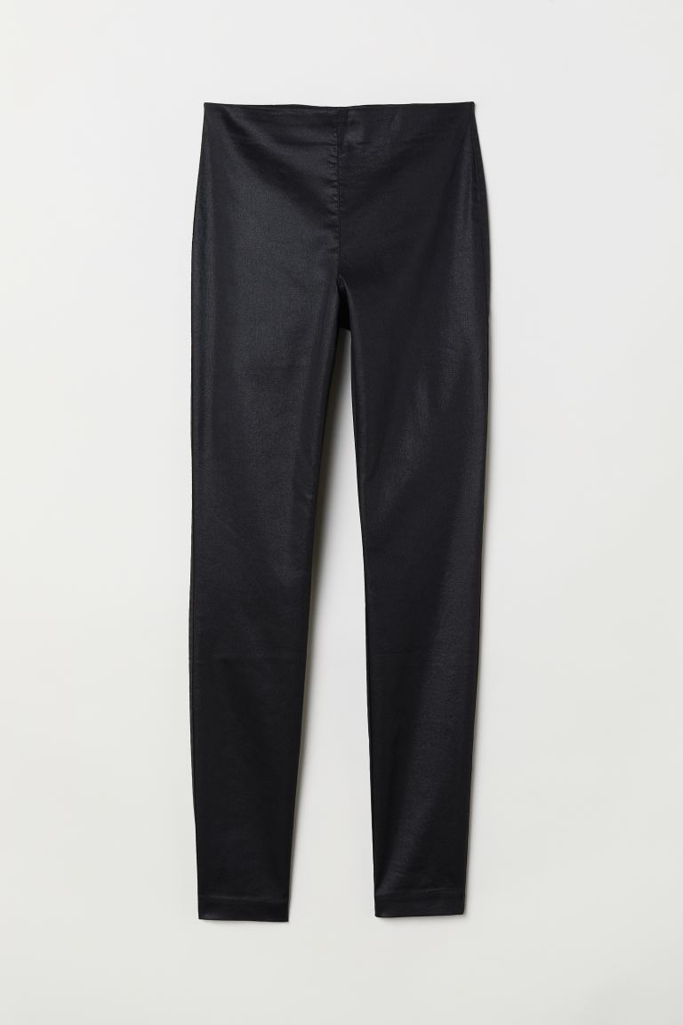 Treggings - Black/Coated - Ladies | H&M GB
