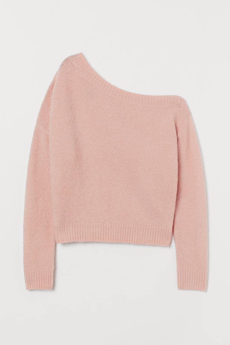 One-shoulder jumper - Powder pink - Ladies | H&M GB