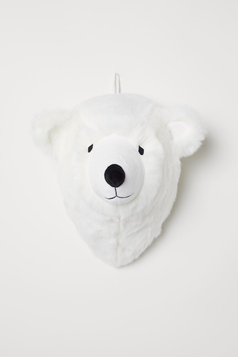 Wall decoration - White/Polar bear - Home All | H&M GB