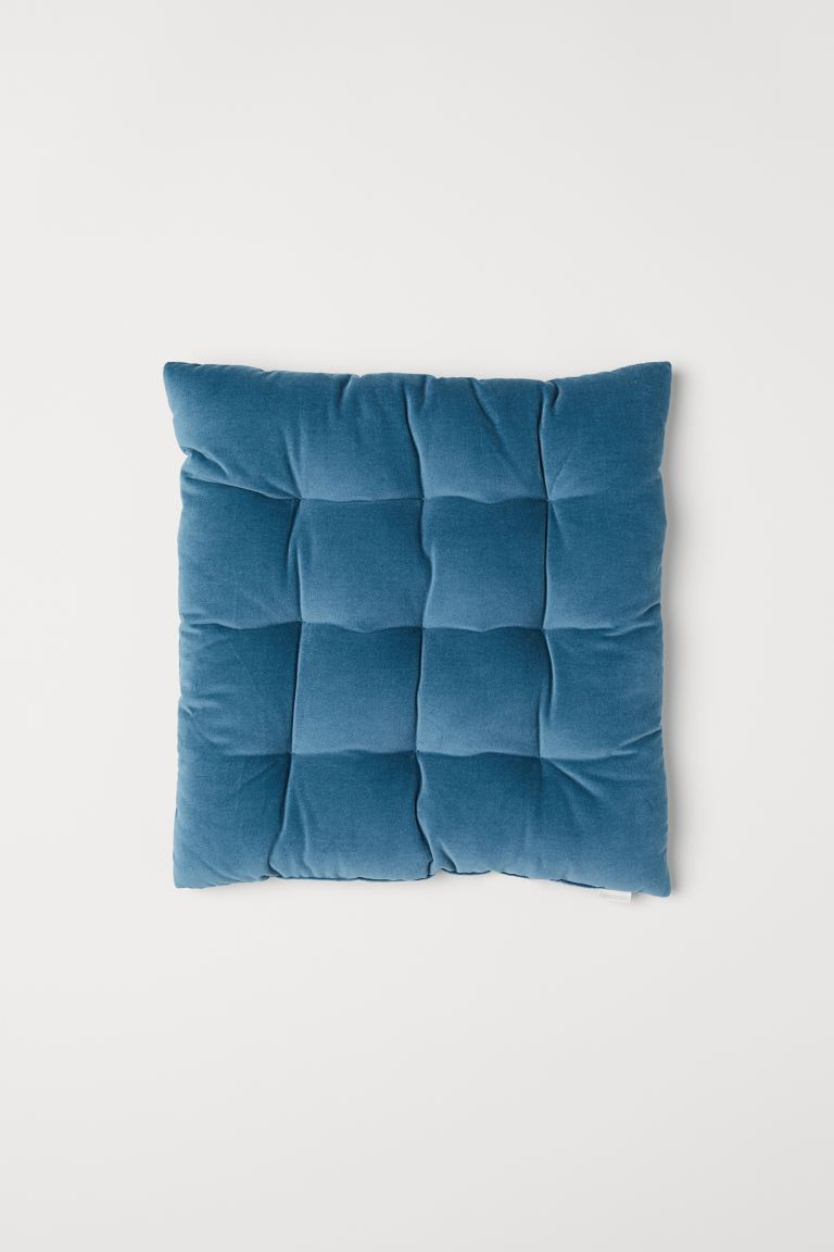 Velvet Seat Cushion - Teal - Home All | H&M US