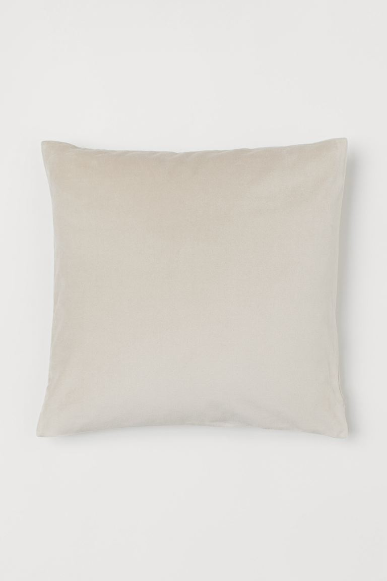 Housse de coussin en velours - Beige - Home All | H&M CA