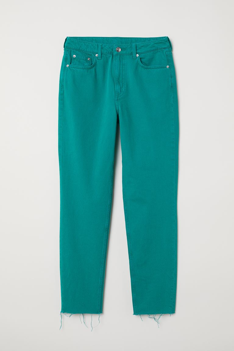 Slim Mom High Ankle Jeans - Emerald green - Ladies | H&M GB