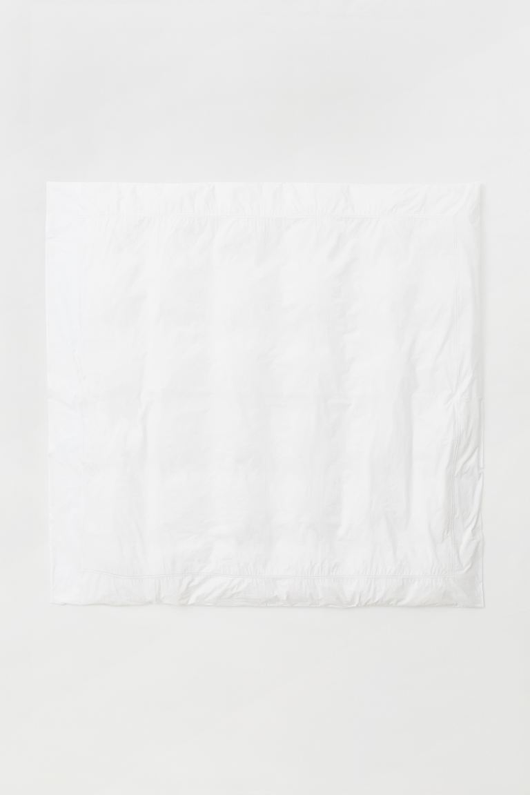 Cotton percale duvet cover - White - Home All | H&M GB