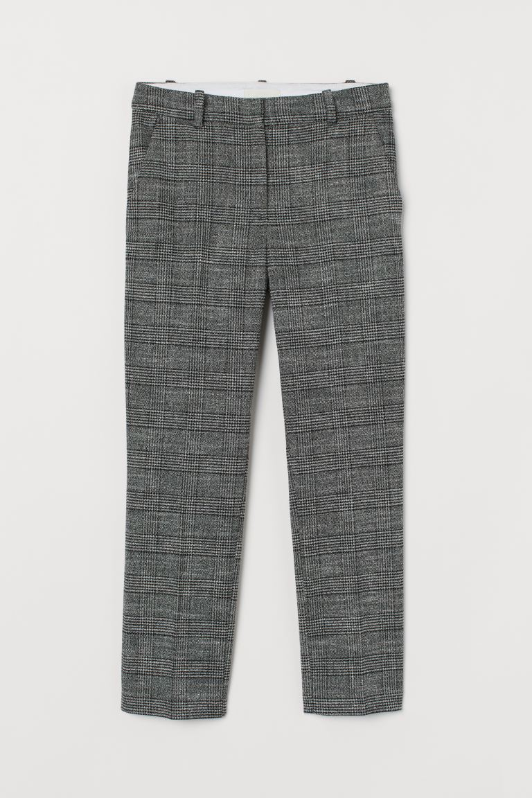 Slacks - Black/white checked - Ladies | H&M CA