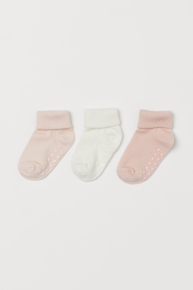 3-pack socks - Light pink -  | H&M GB