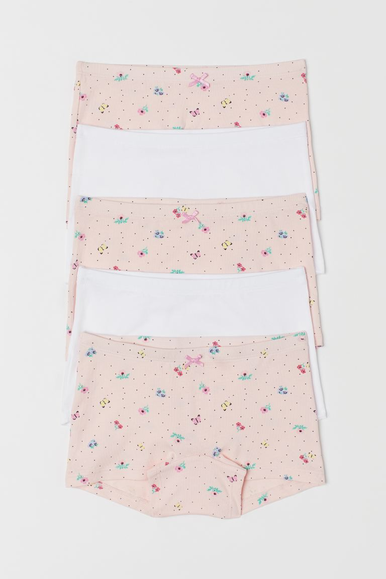 5-pack boxer briefs - Light pink/Floral - Kids | H&M