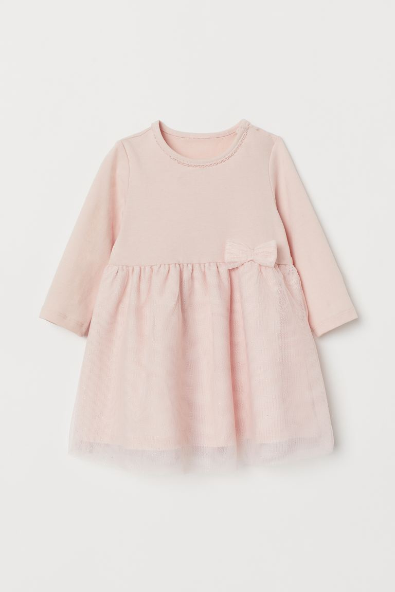 Dress with Tulle Skirt - Light pink - Kids | H&M US