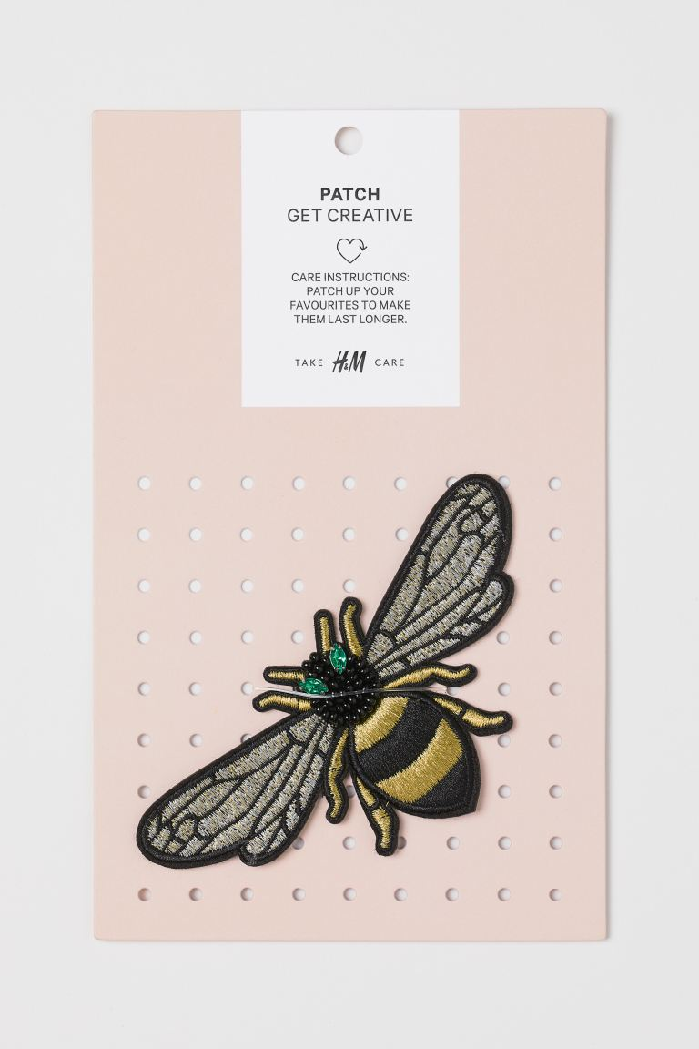 Patch - Gold-coloured/Bee - Ladies | H&M GB
