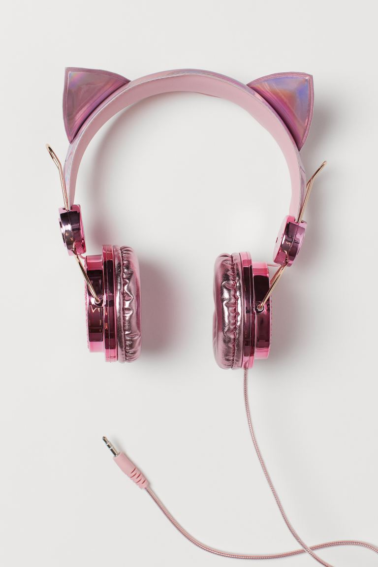 On ear-høretelefoner - Metallicrosa/Katt - BARN | H&M NO