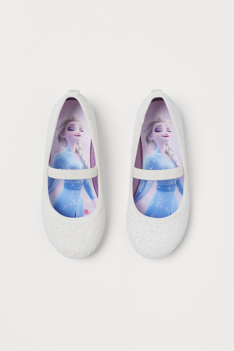 Glittery ballet pumps - White/Frozen - Kids | H&M GB