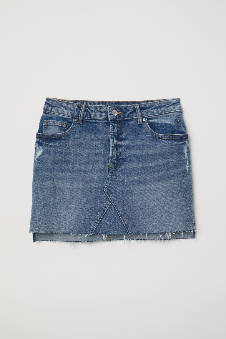 Short Denim Skirt - Denim blue - Ladies | H&M CA