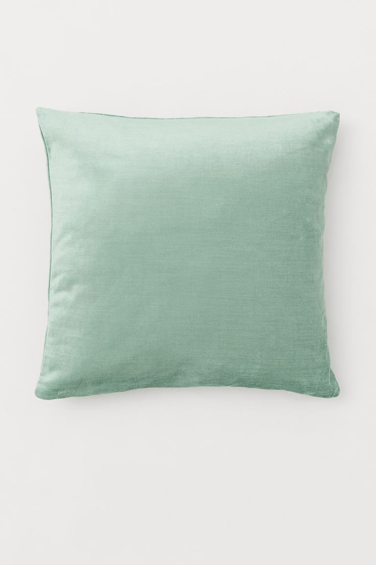 Velvet Cushion Cover Mint Green
