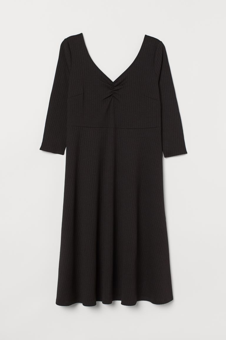 H&M+ Ballerina-neckline Dress - Black - Ladies | H&M US