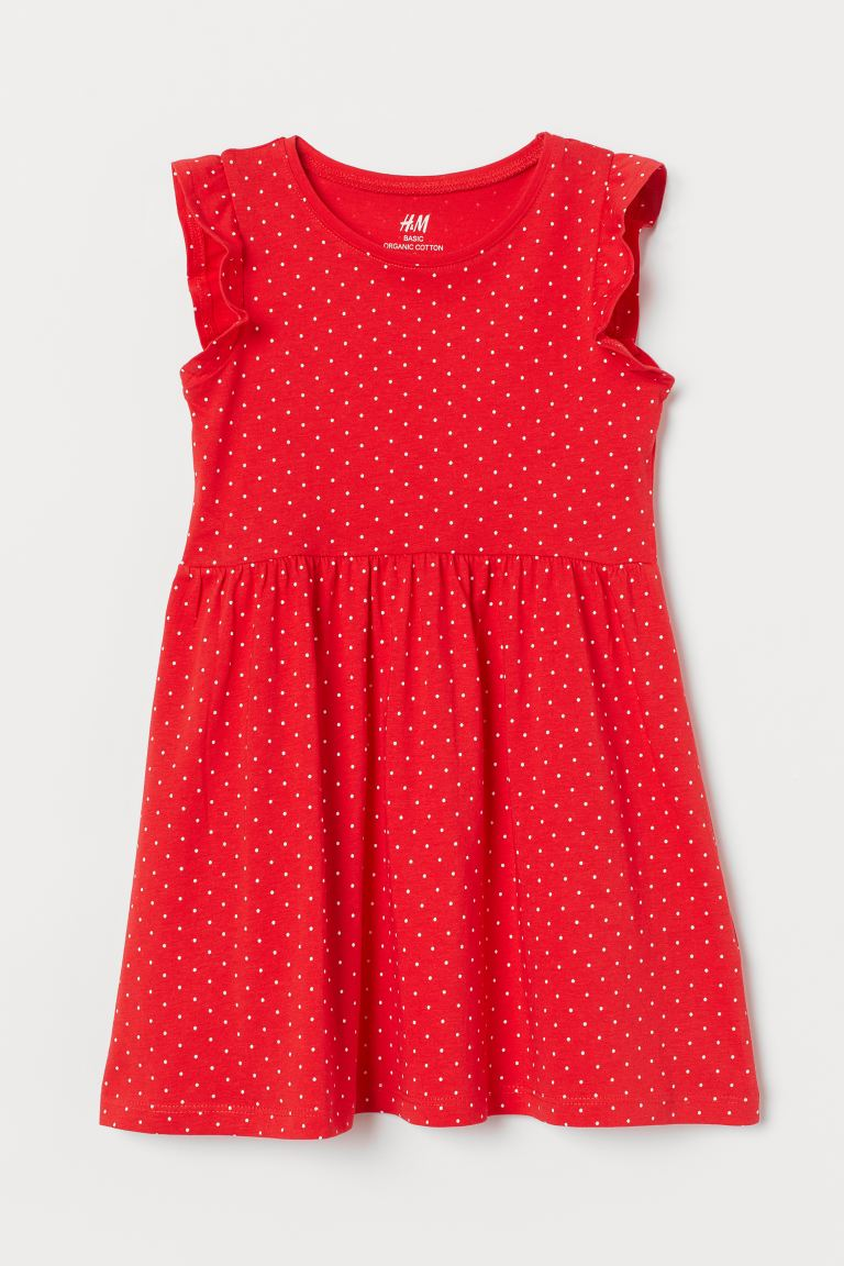 Jersey Dress - Red/white dotted - Kids | H&M US