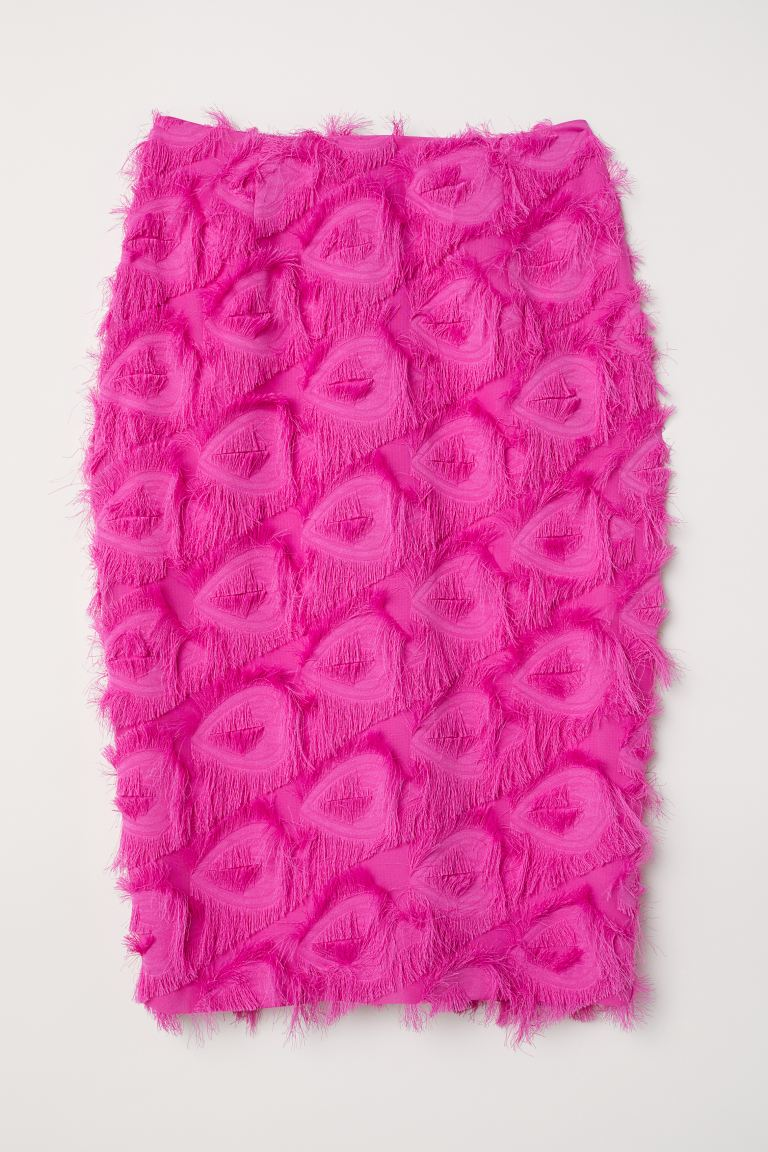 Skirt with fringing - Cerise - Ladies | H&M