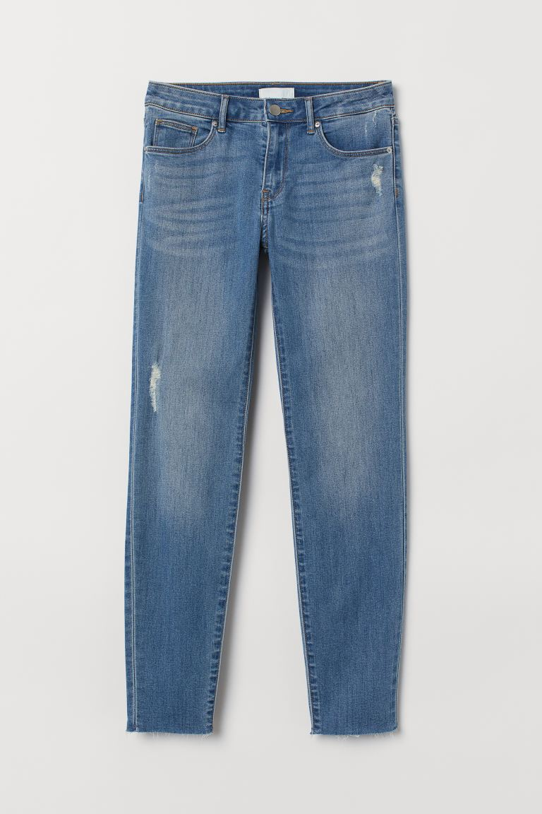 Cropped Twill Pants - Light denim blue - Ladies | H&M CA