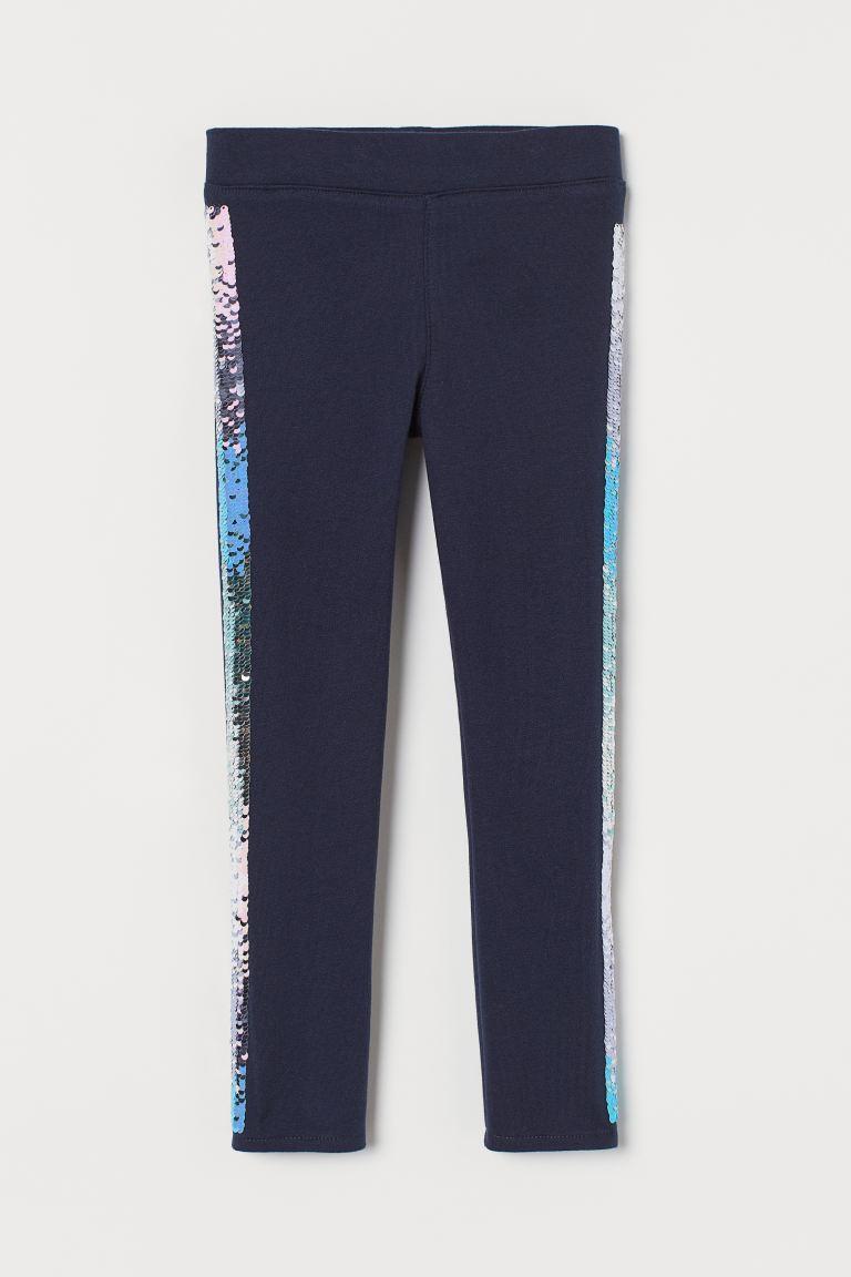 Leggings - Dark blue/Sequins -    H&M GB