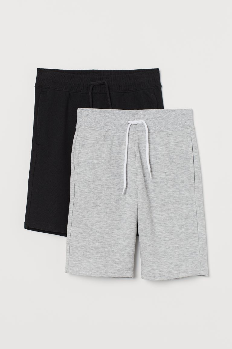 2-pack sweatshirt shorts - Grey marl/Black -  | H&M