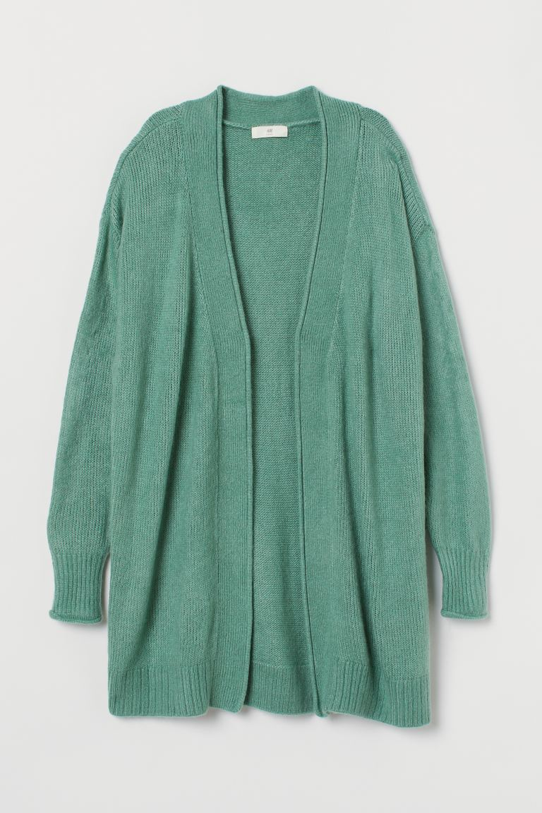 Knitted cardigan - Light green - Ladies | H&M