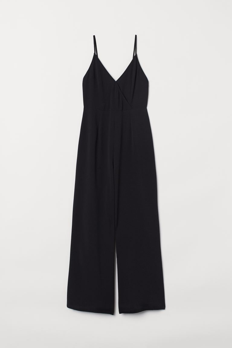 V-neck jumpsuit - Black - Ladies | H&M IE