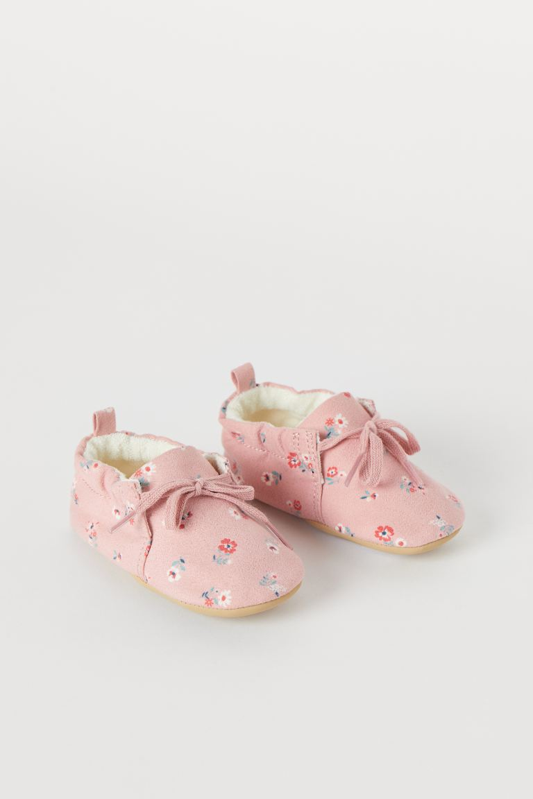 Soft Slippers - Pink/floral - Kids | H&M US
