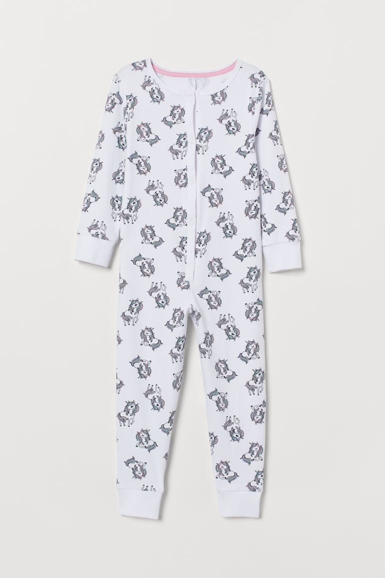 Jersey pyjamas - White/Unicorns - Kids | H&M IE