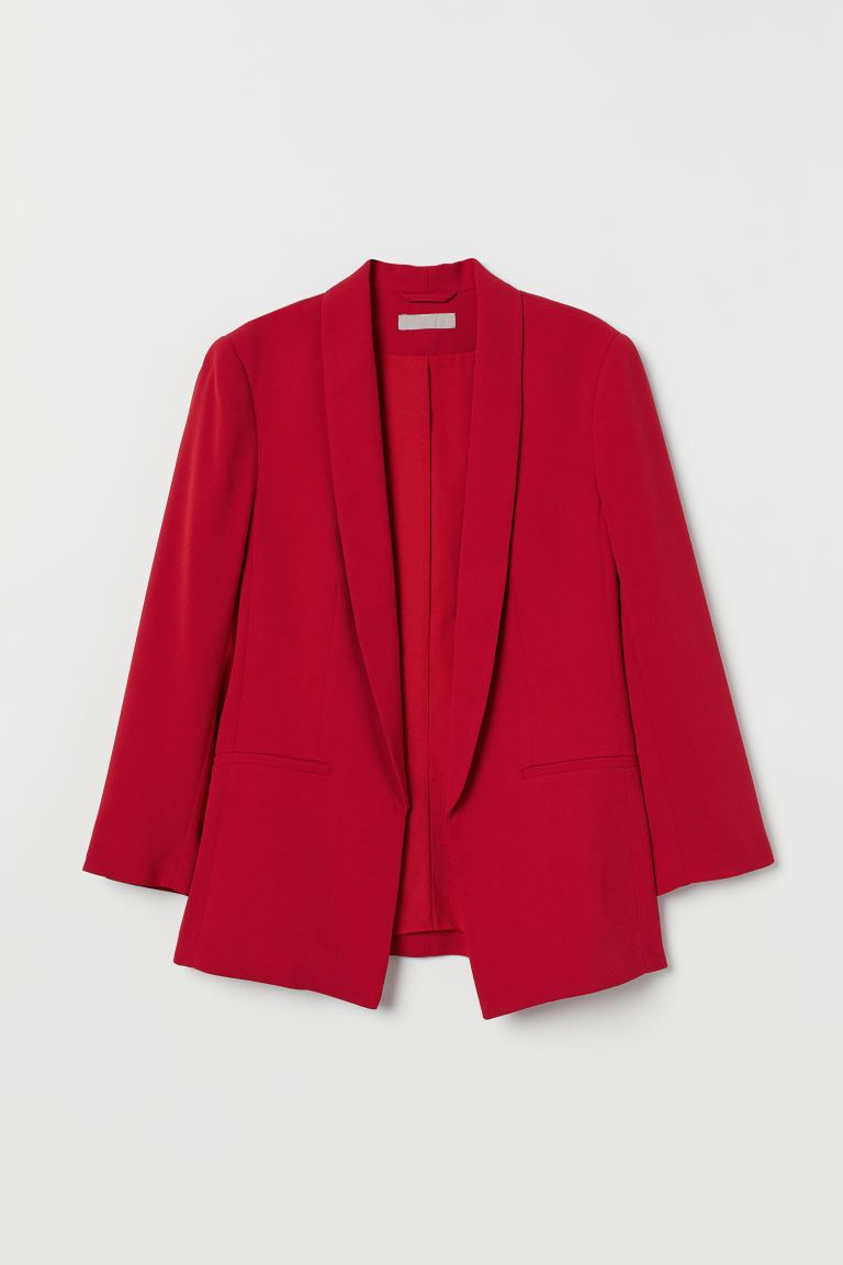Straight-cut Jacket - Red - Ladies | H&M US