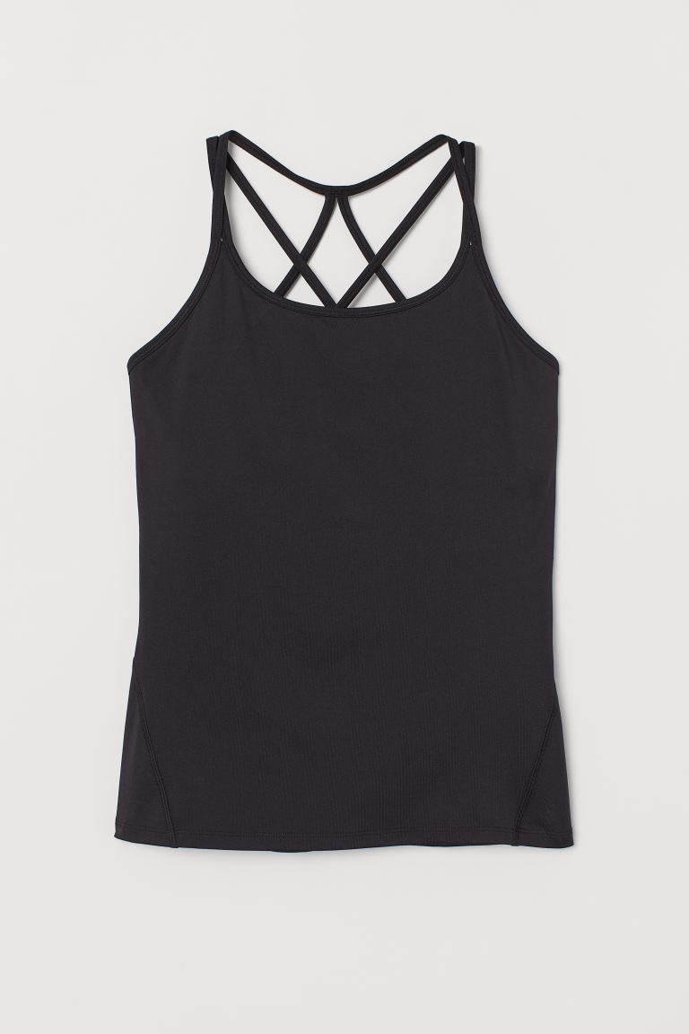 Treningssinglet med sports-BH - Sort - DAME | H&M NO