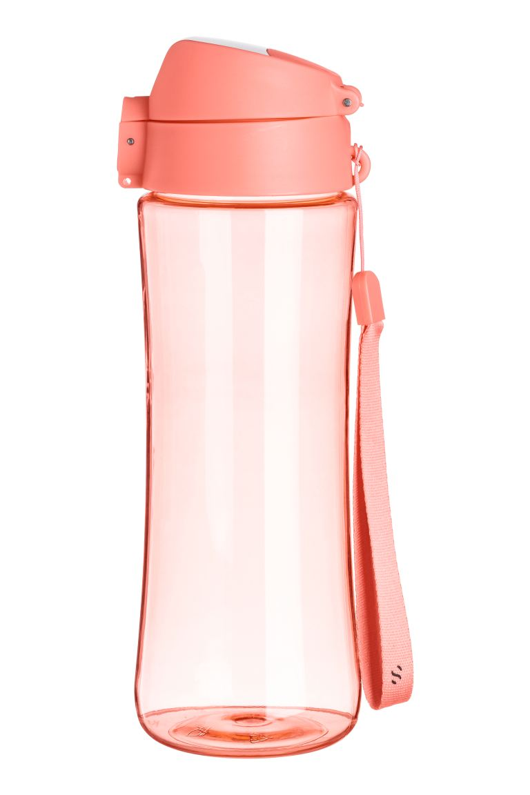 Water bottle with a lid - Coral - Ladies | H&M GB