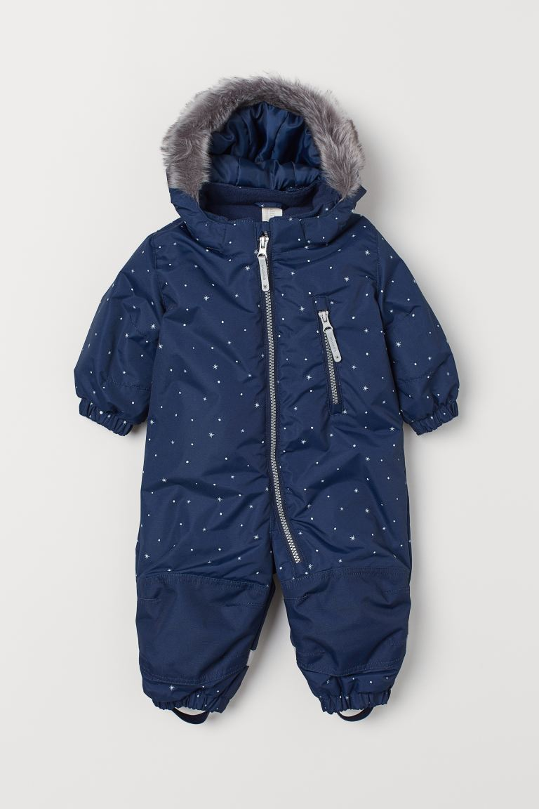 Water-repellent all-in-1 suit - Dark blue/Stars - Kids | H&M IN