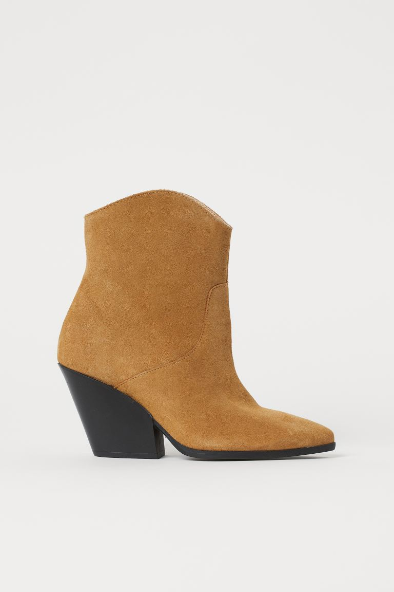 Suede Ankle Boots - Beige - Ladies | H&M US