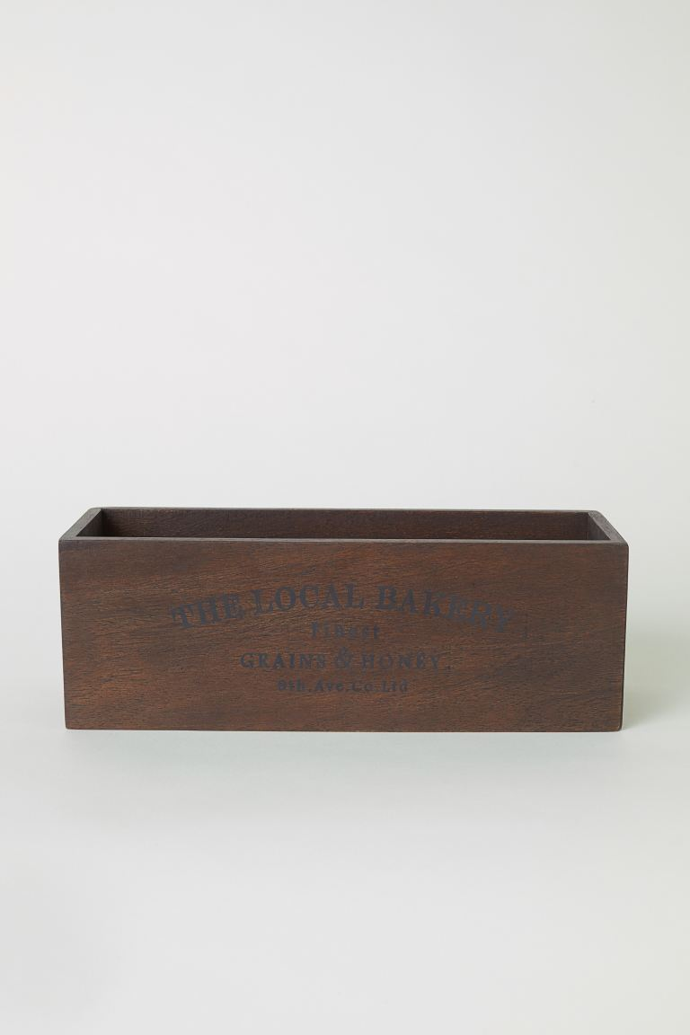 Rectangular wooden box - Dark brown - Home All | H&M GB