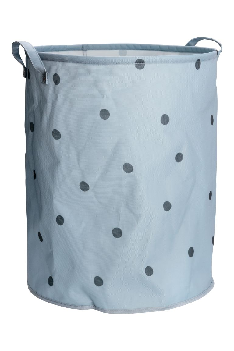 Large storage basket - Pigeon blue/Black spotted - Home All | H&M GB