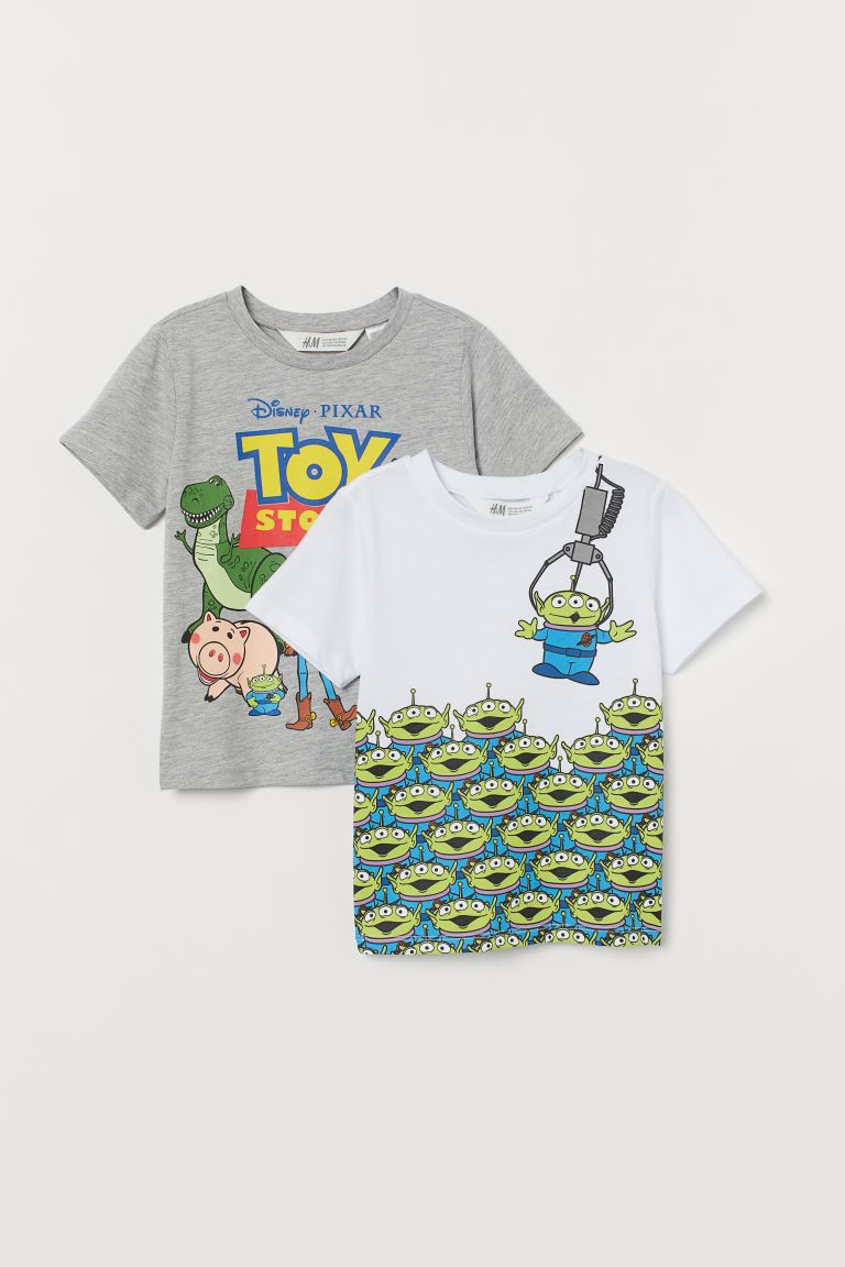 2-pack printed T-shirts - Grey marl/Toy Story - Kids | H&M IE