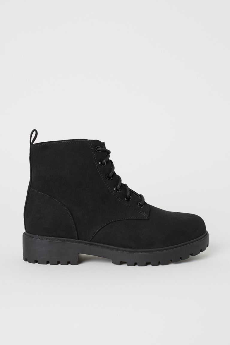 Faux Shearling-lined Boots - Black - Ladies | H&M CA