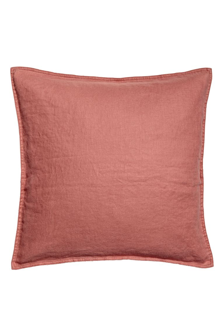 Washed Linen Cushion Cover - Rust - Home All | H&M US