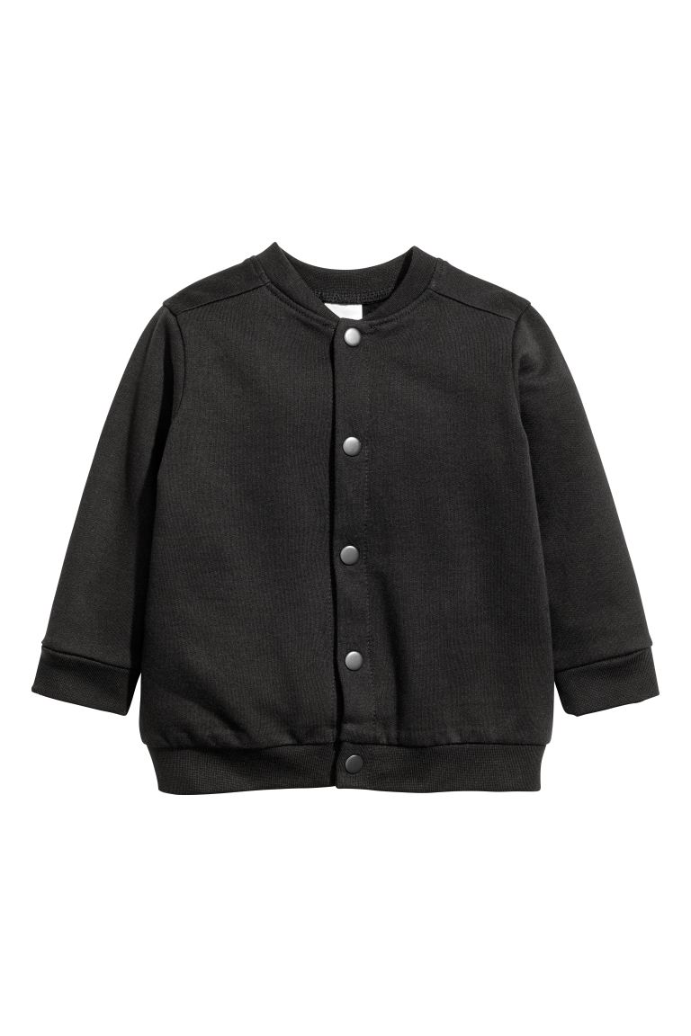 Sweatshirtcardigan - Sort - BARN | H&M NO