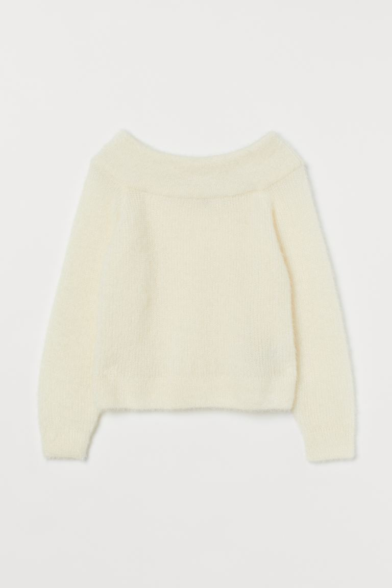 Off-the-shouldertrui - Roomwit - DAMES | H&M BE