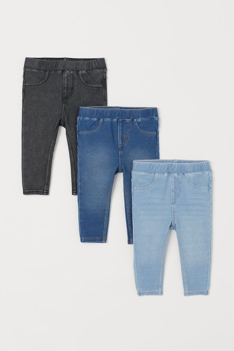 Jeggings, 3 pz - Grigio denim - BAMBINO | H&M IT