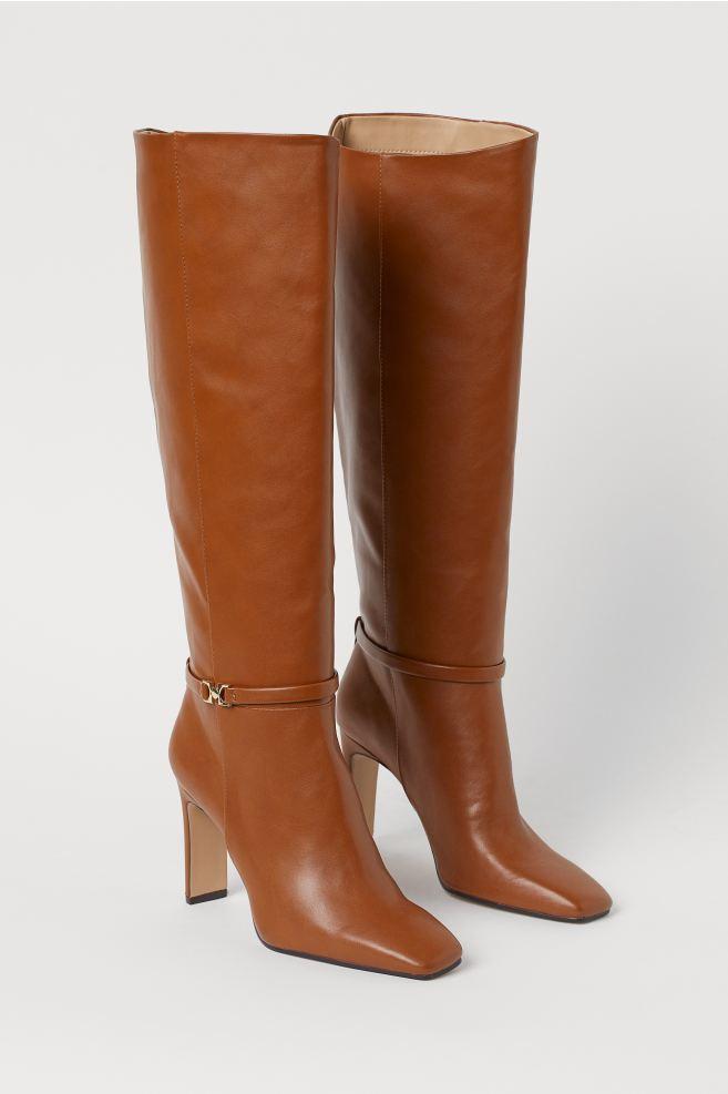 Knee-high Boots - Light brown - Ladies | H&M US 2