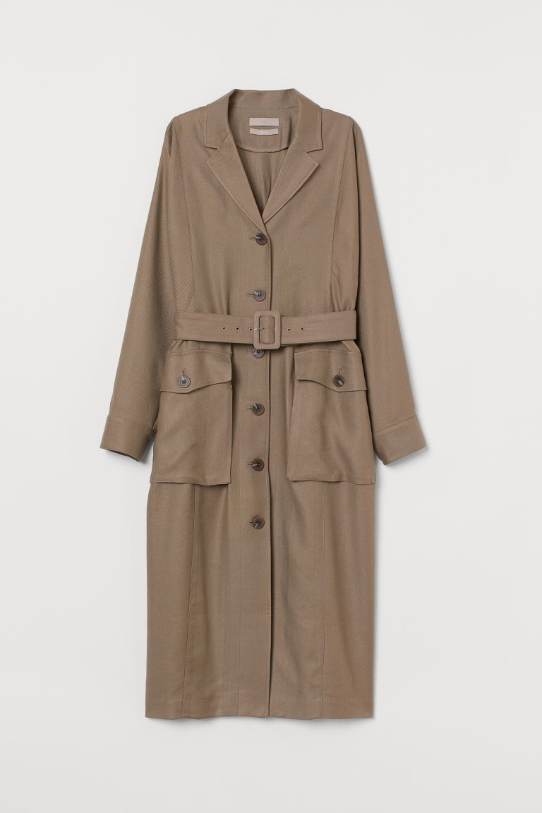 Lyocell-blend Dress - Taupe - Ladies | H&M CA