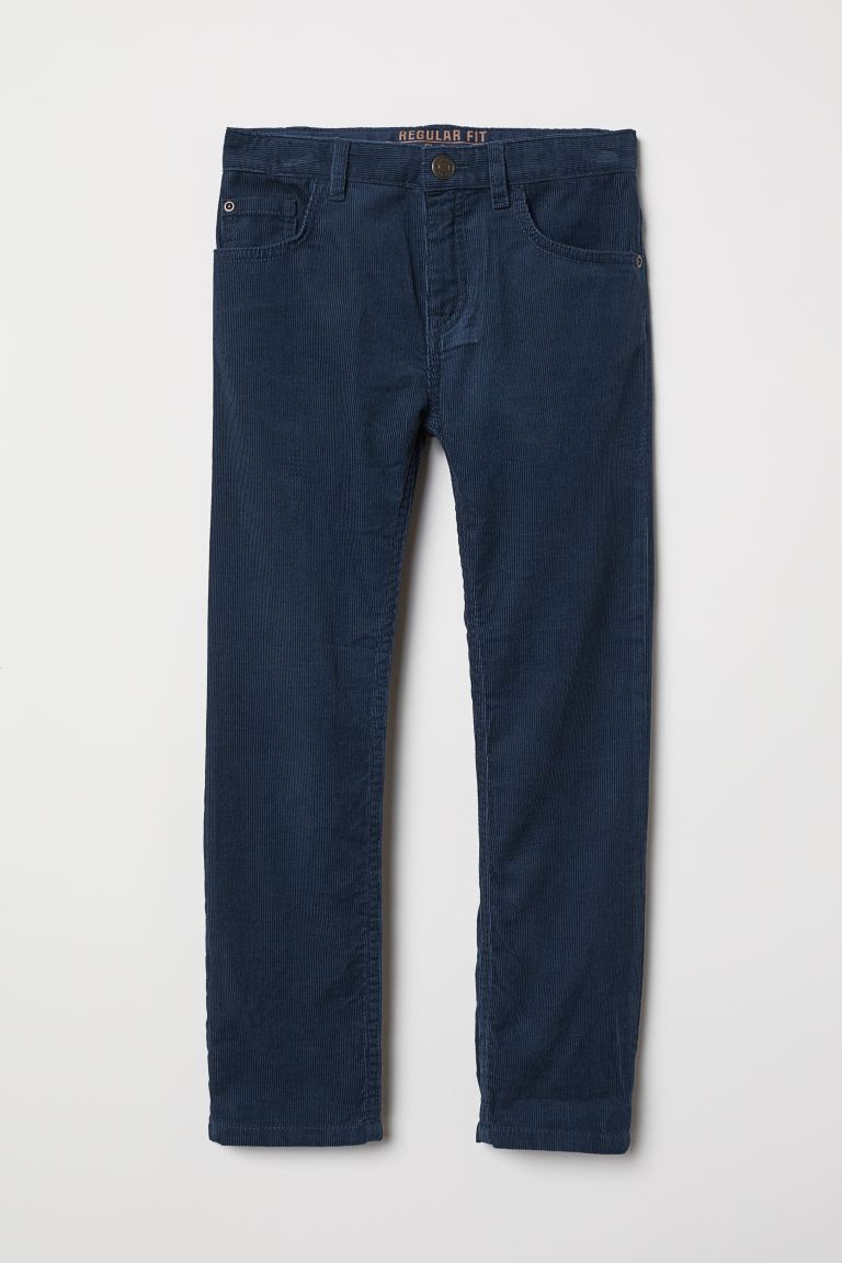 Corduroy Pants - Dark blue -  | H&M US