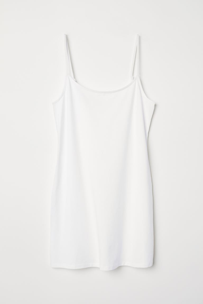 Canotta lunga in jersey - Bianco - DONNA | H&M CH