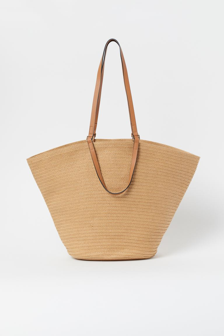 Straw Shopper - Beige - Ladies | H&M US