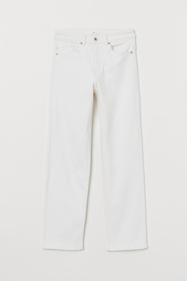 Straight Regular Jeans - Blanco natural - MUJER | H&M ES