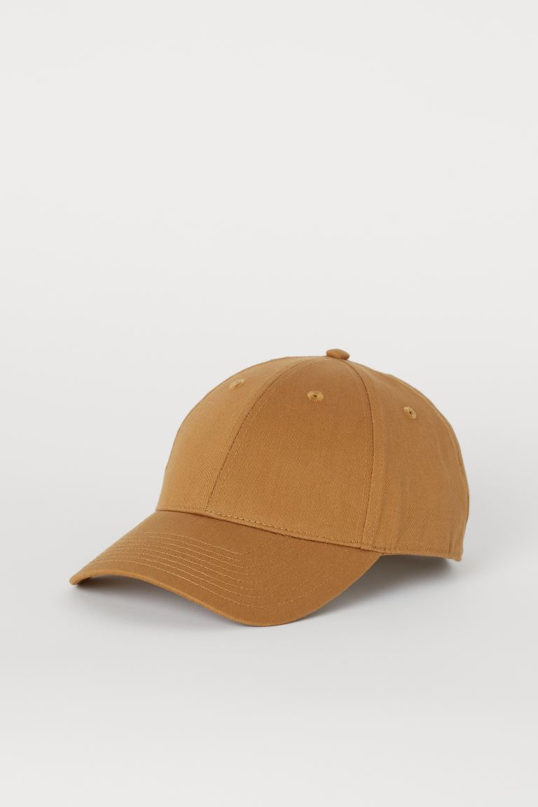 Cotton twill cap - Dark beige - Men | H&M