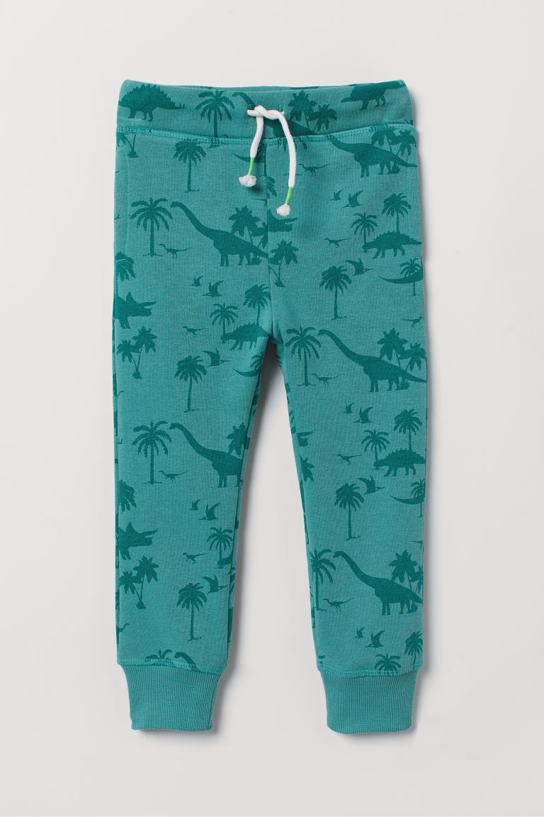 Pantaloni in felpa - Verde/dinosauri -  | H&M IT